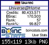 Klicken Sie auf die Grafik für eine größere Ansicht  Name:2019-10-18_universeathome_80M_boincstats.png Hits:5 Größe:13,2 KB ID:6361